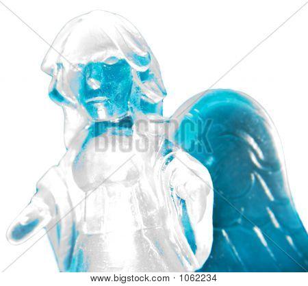 Ice Angel On White