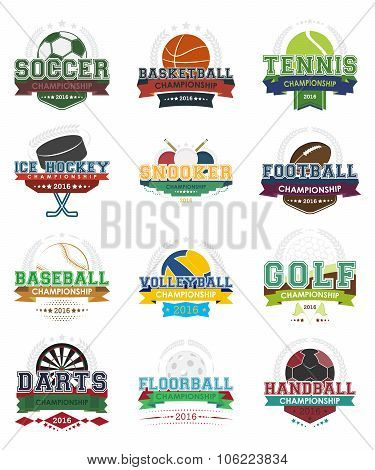 Sport vector icons - Set