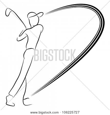 An image of a man playing golf.