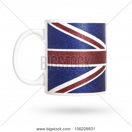British cup on a white background.