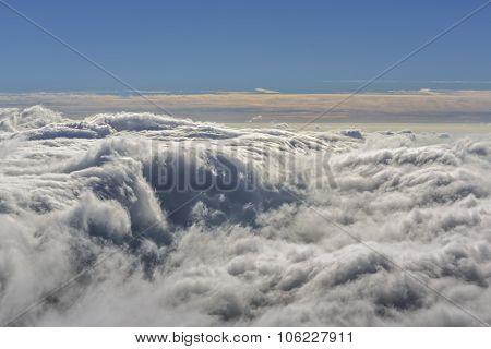 Aerial Windy Cloudscape