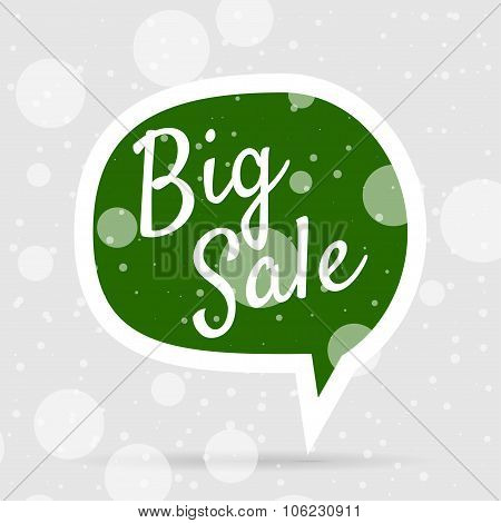 Green Christmas Bubble with white Big Sale Text