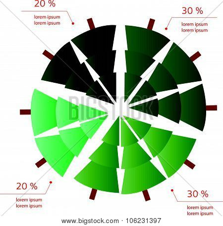 New Year/christmas Per Cent Info Graphics