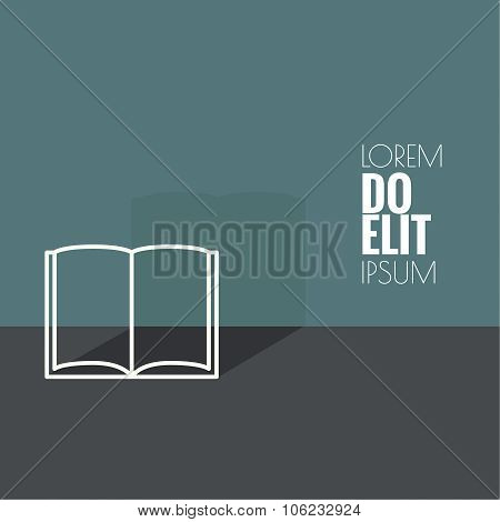 Icon of an open book.