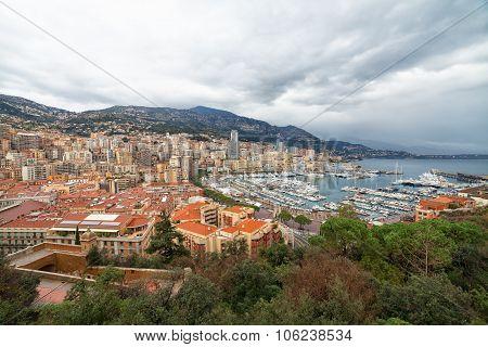 View of Monaco Monte Carlo harbor