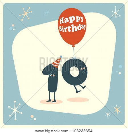 Vintage style funny 70th birthday Card.