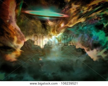 Galactic Scene filled with nebulous gasses This image is entirely my own creation and is legal for me to sell and distribute