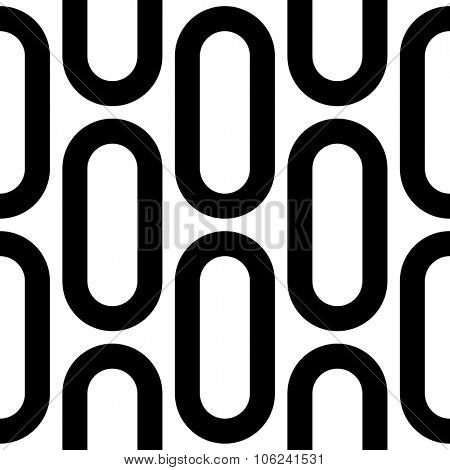 Seamless Ellipse Pattern. Vector Regular Texture