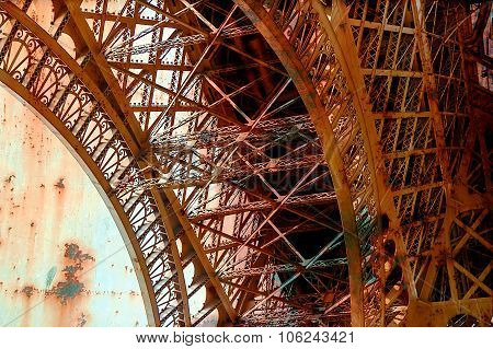 Rusty Background  With Eiffel Tower 10