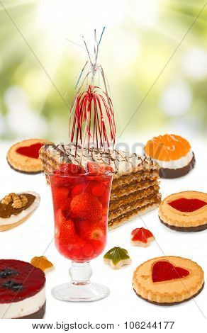Image Of Strawberry Cocktails And Cakes