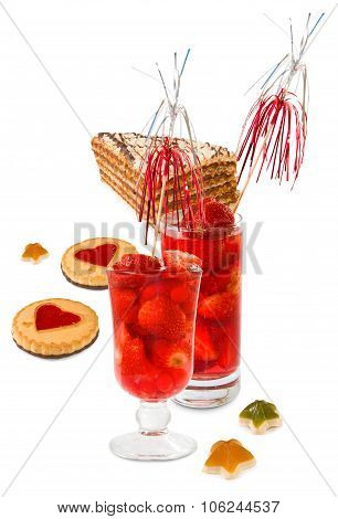 Strawberry Cocktails And Cakes