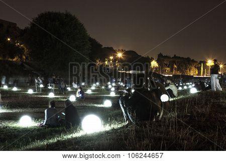 Circus Maximus Illuminated By Glowing Balls