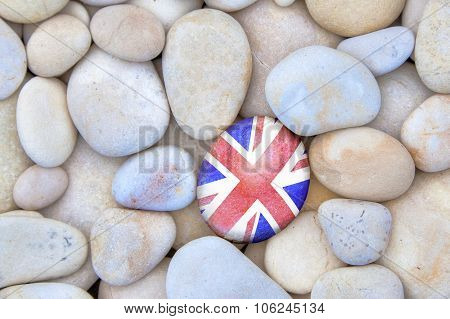 Uk Flag Pebble