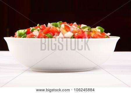 Tasty homemade tasty tomato salad dip.