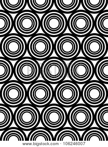 Vector modern seamless geometry pattern circles concentric black and white abstract