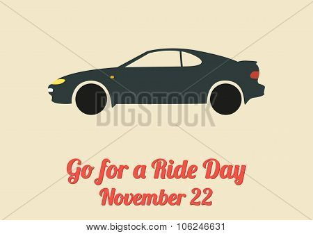 Poster For Go For A Ride Day (november 22)