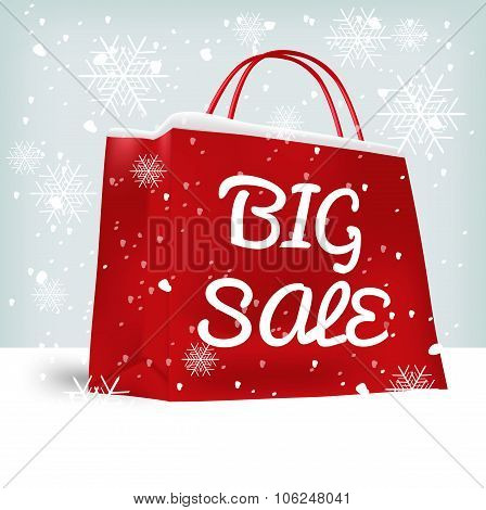 red big sale shopping bag