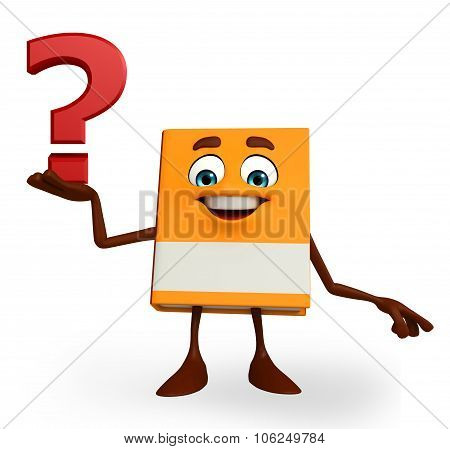 Book Character With Question Mark