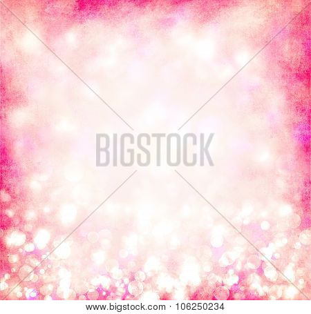 Pink Bokeh Circles Background Or Texture