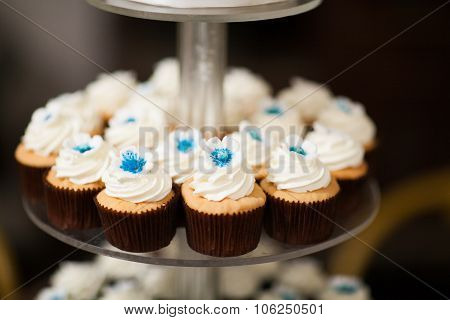 Wedding Cup Cakes On A Stand