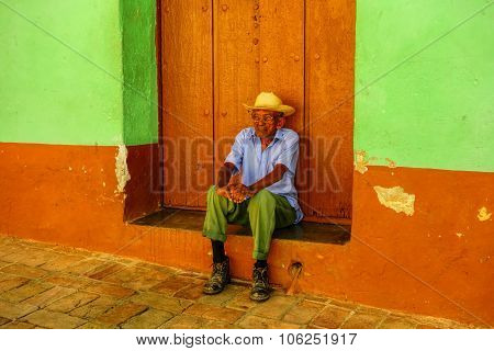 Old Cuban man in Trinidad, Cuba