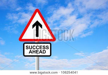 Success Ahead Signpost