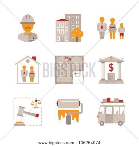 Set of vector real estate icons