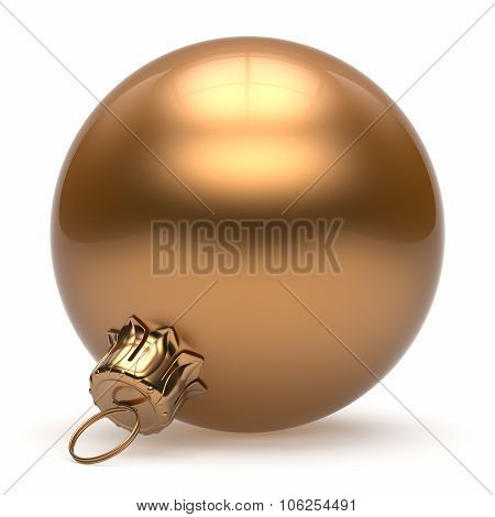 Christmas ball New Year's Eve bauble wintertime decoration gold