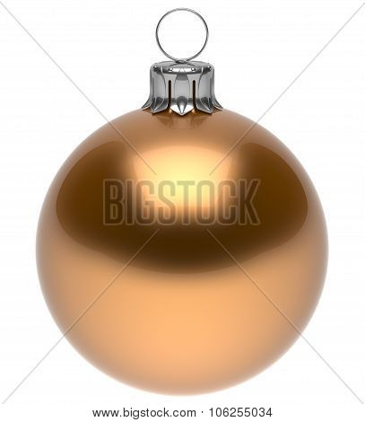Christmas Ball Golden New Year's Eve Bauble Decoration Shiny