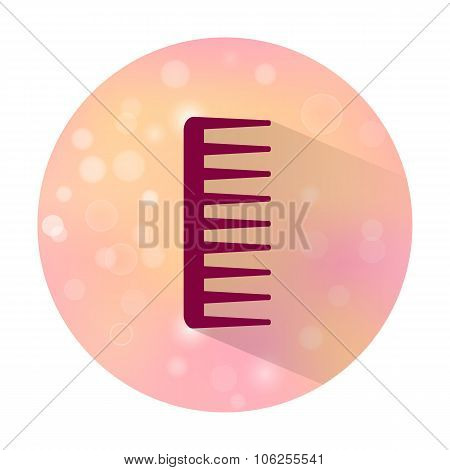 Icon of hairbrush