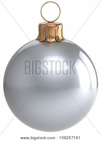 Christmas Ball New Year's Eve Bauble White Xmas Decoration