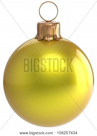 Christmas Ball New Year's Eve Bauble Yellow Xmas Decoration