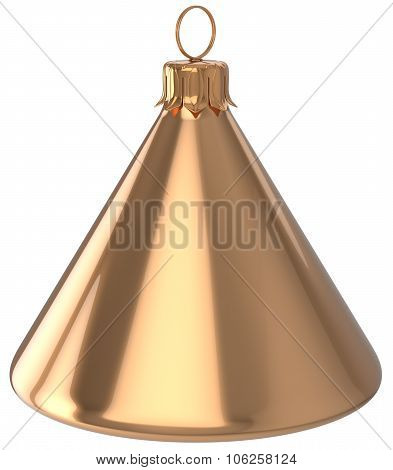 Christmas Ball Cone Geometric New Year's Eve Bauble Golden