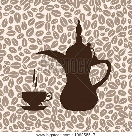 The coffee pot Arabic