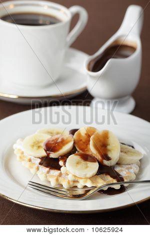 Waffle With Banana
