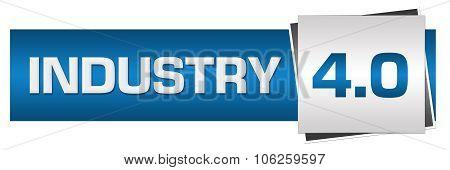 Industry Four Point Zero Blue Grey Horizontal