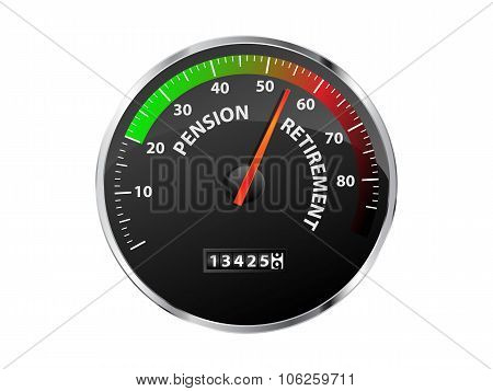 Pension Speedometer
