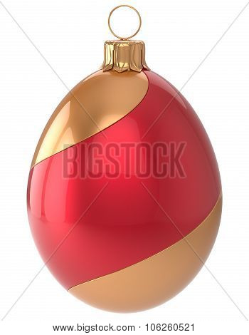 Christmas Ball Egg New Year's Eve Bauble Decoration Red Gold