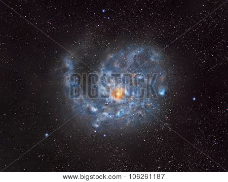 Spiral Galaxy In Outer Space