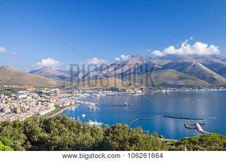 Bay Of Gaeta Commune, Italy. Summer Morning