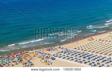 Wide Public Beach Of Gaeta, Italy