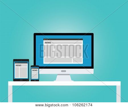 online news newspaper responsive multi platform