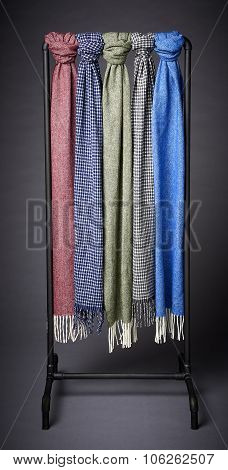 Scarf Hanging On A Rack