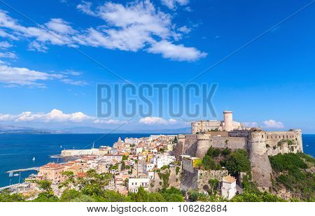 Landscape Of Gaeta Town With Fortress, Italy