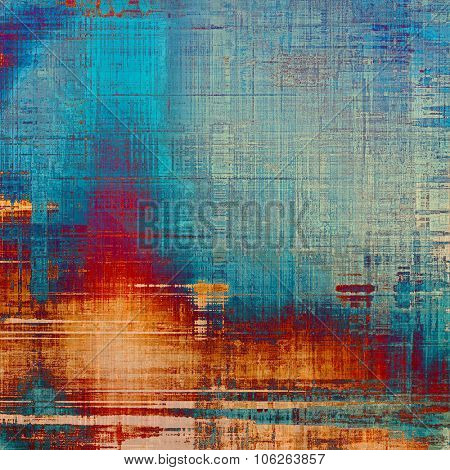 Vintage textured background. With different color patterns: yellow (beige); blue; cyan; red (orange)