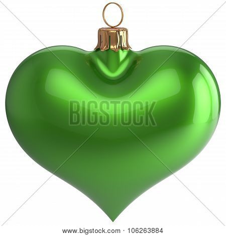 Heart Shape Christmas Ball New Year's Eve Love Bauble Green