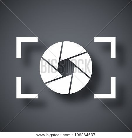 Camera Lens Icon, Stock Vector
