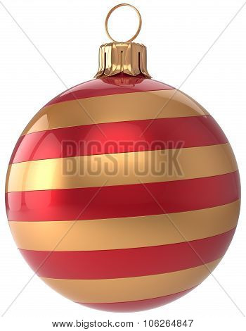Christmas Ball New Year's Eve Bauble Golden Red Decoration