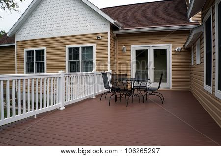 Back Deck of a Harbor Springs Home