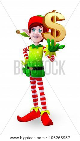 Elves Character With Dollar Sign